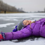 ice angel on the moscow canal